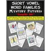 Short Vowel Word Families Mystery Pictures SAMPLER Set