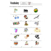 18 Beach Vocabulary IDs Homework for Any Language
