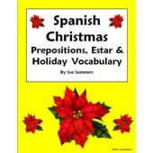 Spanish Christmas, Estar and Prepositions Worksheet - Navidad