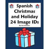 Spanish Christmas Vocabulary 24 Image IDs - Navidad