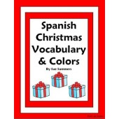 Christmas Colors Worksheet & Vocabulary List - NAVIDAD