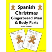 Spanish Christmas Gingerbread Man and Body Parts - Navidad