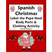 Spanish Christmas Papa Noel With Body Parts & Clothing - Navidad