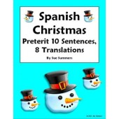 Spanish Christmas Vocabulary Preterit Sentences and Conjugations
