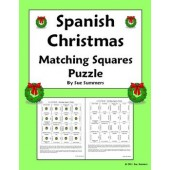 Spanish Christmas Matching Squares / Magic Squares Puzzle - Navidad