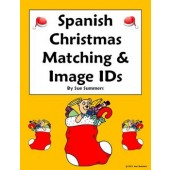 Spanish Christmas Matching Quiz or Worksheet - 31 Words - Navidad