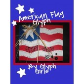 American Flag Glyph with Writing Option