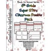 6th Grade Super Stars Classroom Freebie Pack