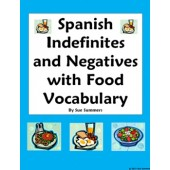 Spanish Indefinite Words / Negatives with Food - 10 Sentences