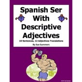 Spanish Adjectives With Ser 10 Sentences and 12 Vocabulary Translations