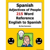 Spanish Adjectives of People Reference - English to Spanish 215 Words