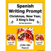 Spanish Writing Prompt - Three King's Day, Christmas, New Year