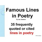 Famous Lines in Poetry - 35 Famous Lines with Title, Author and Date