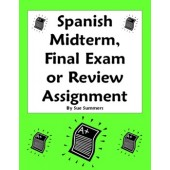 Spanish Midterm, Final Exam, or Exam Review Homework