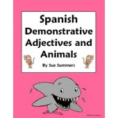 Spanish Demonstrative Adjectives and Animals Worksheet 15 Translations