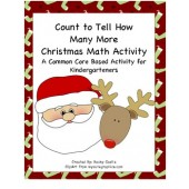 Kindergarten Common Core How Many More Christmas Activity (4 Total)