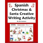 Spanish Christmas & Santa Speech Bubble Creative Writing