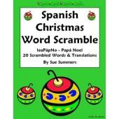 Spanish Christmas Word Scramble - La Navidad