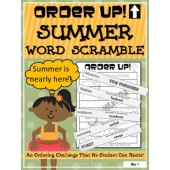 Order Up! Summer Word Scramble