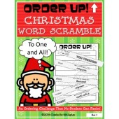 Order Up! Christmas Word Scramble