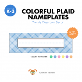Colorful Plaid Nameplate Set