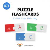 Letter Matching Puzzle Flashcards