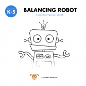 Balancing Robot Coloring Sheet
