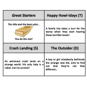Story Starters - 80 card set with titles and plot summaries to write about
