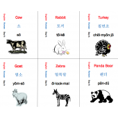 Korean Language Flash Cards - 276 countries colors shapes food animals time