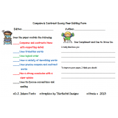 Peer Editing Forms for Writing