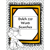 Dolch 220 Word Searches