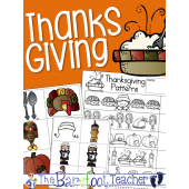 Thanksgiving Pattern Practice & Pocket Chart Pieces