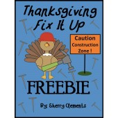 Fix It Up Sentences: Thanksgiving (capital letters and punctuation)FREEBIE