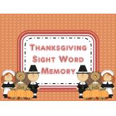 First Grade Thanksgiving Sight Word Memory