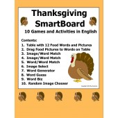 Thanksgiving SmartBoard Games, Vocabulary, and Activities