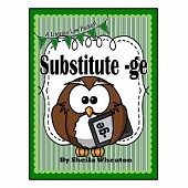 Substitute -ge:  j vs.ge - A Common Core Literacy Law
