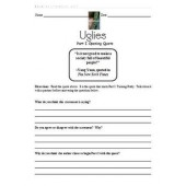 Uglies Literature Unit - Part I Opening Quote Activity