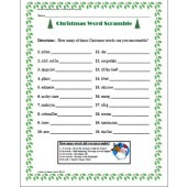 Winter Holiday Activity Pack - Christmas Word Scramble