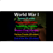 World War One: 7 parts, 200 slides on all aspects of the war (with guided notes)
