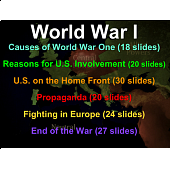 World War One - a 6-part series from the U.S. Perspective (for U.S. History)