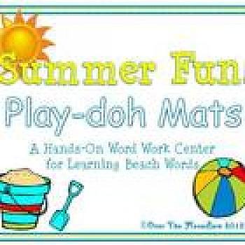 Summer Fun! Play-doh Mats