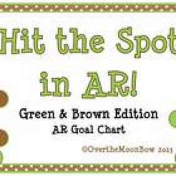 Hit the Spot in AR! Spring Green & Brown Edition ~ AR Goal Chart