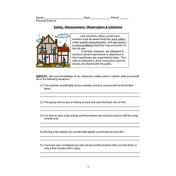 Printables Observations And Inferences Worksheet measurement observation inference worksheet safety worksheet