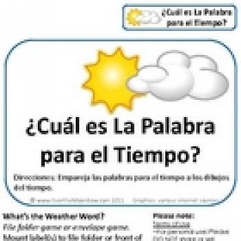 Weather Words Science File Folder Game