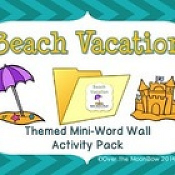 Beach Vacation Mini-Word Wall Activity Pack
