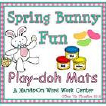 Spring Bunny Fun Playdoh Activity Pack