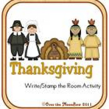 Thanksgiving Fun Write/Stamp the Room Spelling Vocabulary Game
