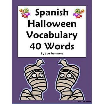 Halloween Vocabulary Reference 40 Words - Dia de las Brujas