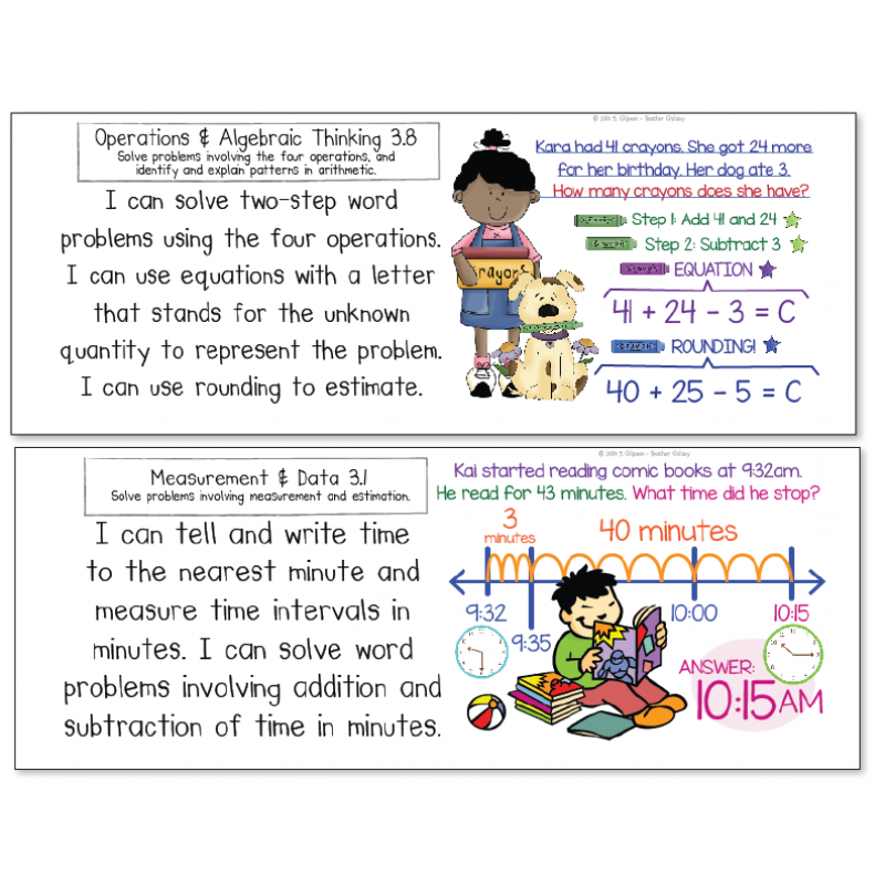 3rd grade common core math standards i can statements