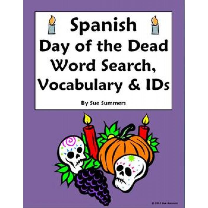 Day of the Dead / Dia de los Muertos Word Search & Vocabulary